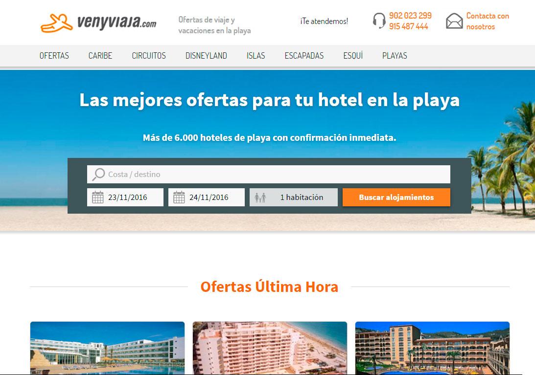 Proyecto: Ven y Viaja Playas